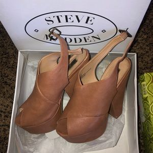 Brown wedges-Steve Madden
